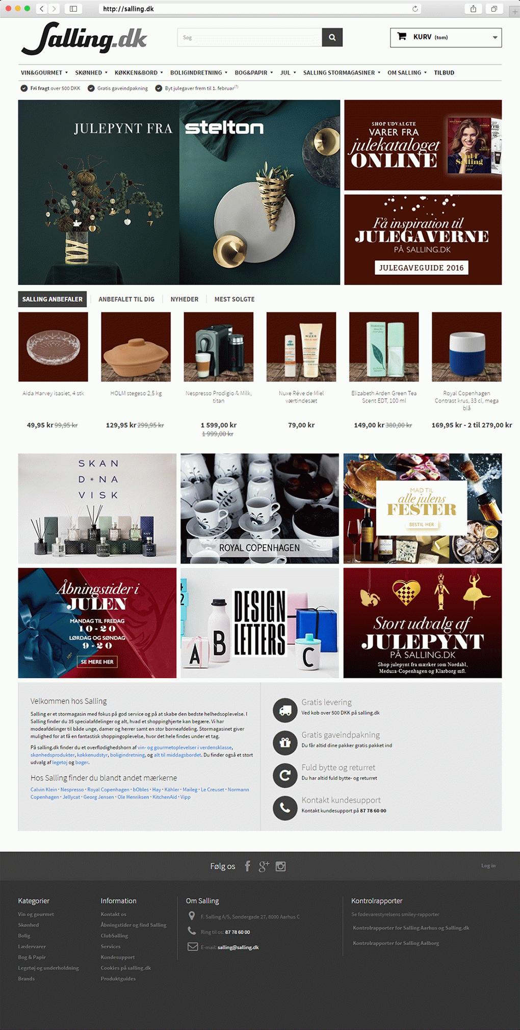 Salling.dk - Homepage
