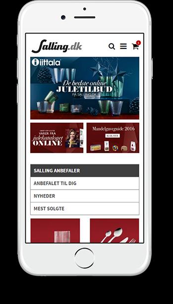 Salling.dk - Mobile responsive