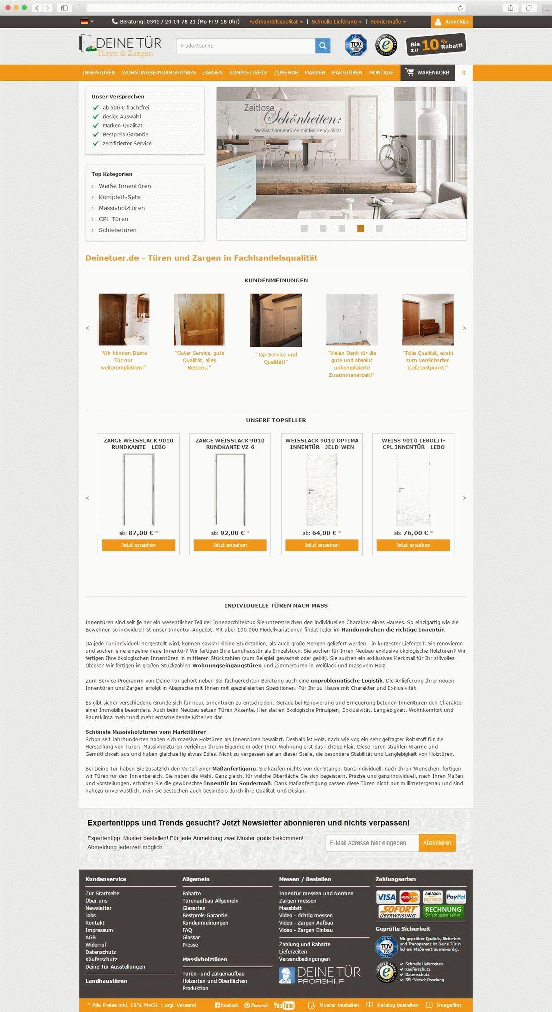 Deinetuer_homepage